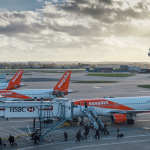 easy-jet passenger plans grounded at airport